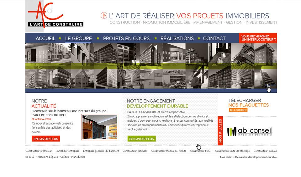 Lucas & Lucas - Site internet L'art de construire