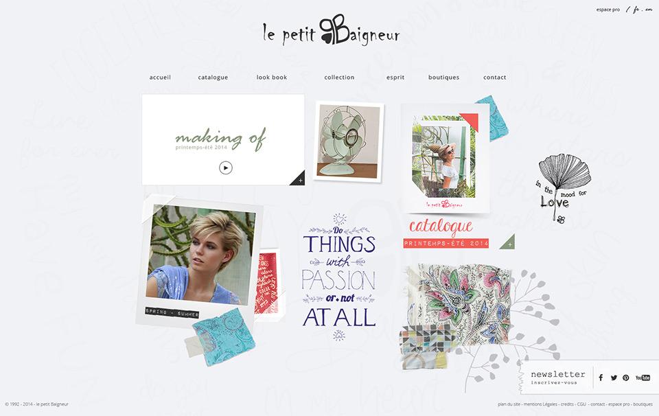Lucas & Lucas - Création site web e-commerce Le Petit Baigneur