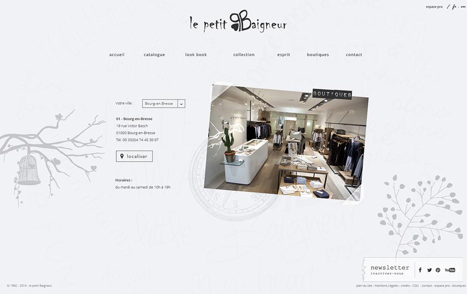 Lucas & Lucas, agence web à Lyon - Le Petit Baigneur