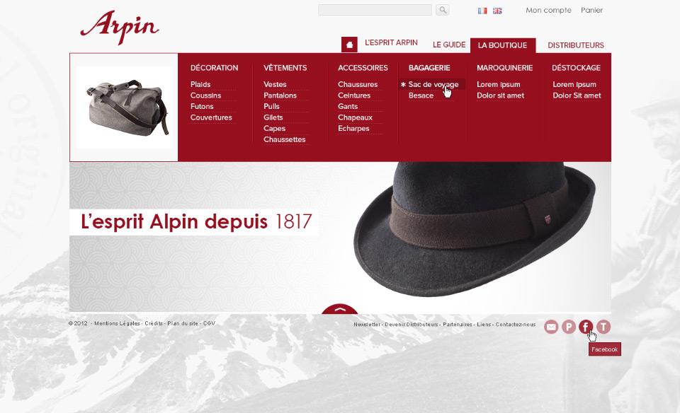 Lucas & Lucas - Création site internet Filature Arpin