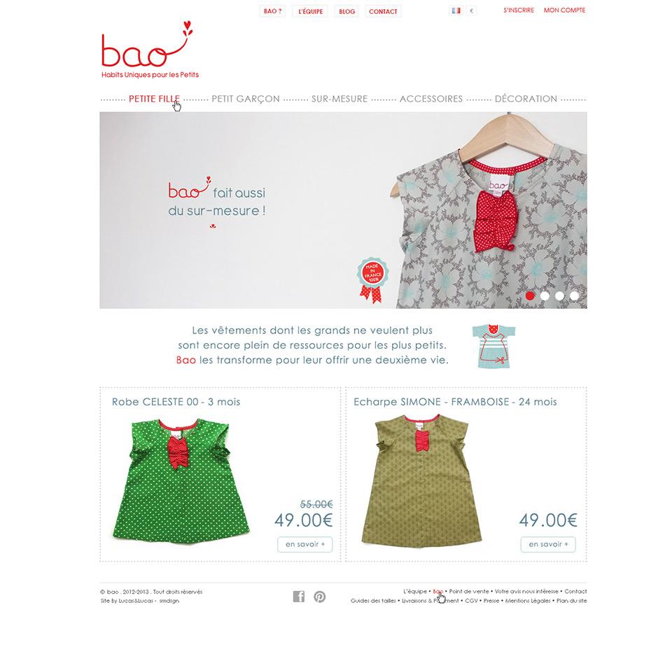 Lucas & Lucas - Création site e-commerce Habits Bao