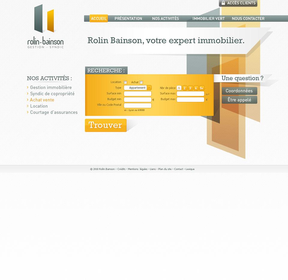 Lucas & Lucas, création de site internet à Lyon - Rolin Bainson